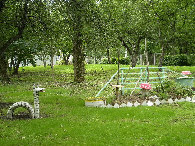 В роддоме есть прекрасный садик