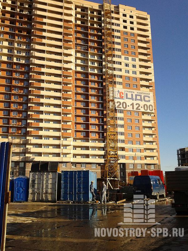ЖК «Пулковский-2» - это тоже 25-этажный комплекс, только уже не на 3, а на 7 подъездов.