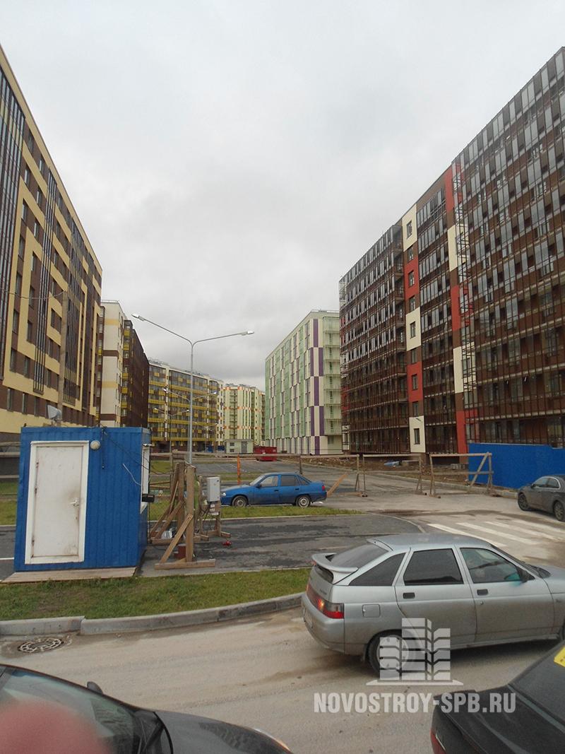 Высота домов в «Вене» – 8-9 этажей.