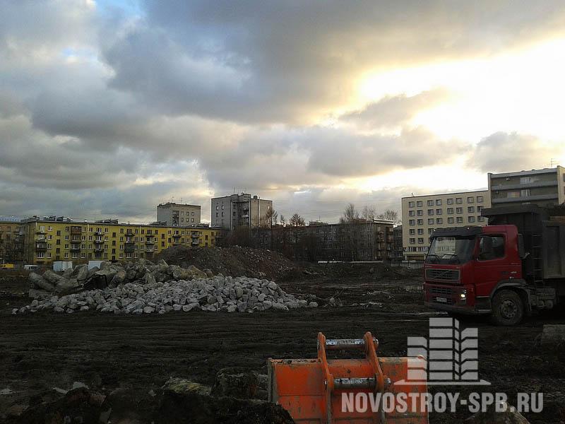 ЖК «Маршал» строится на углу Кондратьевского проспекта и проспекта Блюхера.